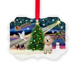 XmasMagic/Havanese pup Picture Ornament