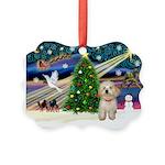 XmasMagic/Havanese pup Picture Ornament
