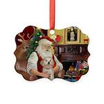 Santa's Havanese Puppy Picture Ornament