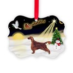 Night Flight/Irish Setter Picture Ornament
