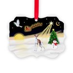 Night Flight/Ital Greyhnd Picture Ornament