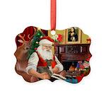Santa's Ital.Greyt (6) Picture Ornament