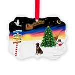 XmasSigns/Lab (choc) Picture Ornament