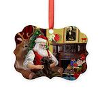 Santa's Chocolate Lab Picture Ornament