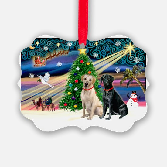 XmasMagic/ 2 Labs (Y&B) Ornament
