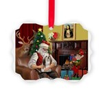 Santa's Lhasa Apso Picture Ornament