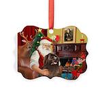 Santa's Newfoundland Picture Ornament