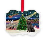 Xmas Magic/Newfie (#2) Picture Ornament