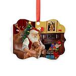 Santa/Nova Scotia Dog Picture Ornament