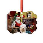 Santa's Old English #5 Picture Ornament