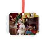 Santa's Old English #6 Picture Ornament