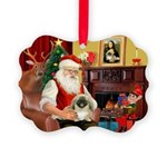 Santa's Pekingese Picture Ornament
