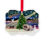 XmasMagic/ Pekingese Picture Ornament