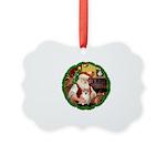 Santa's Pomeranian #1 Picture Ornament
