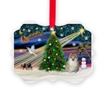 XmasMagic/ Pomeranian Picture Ornament