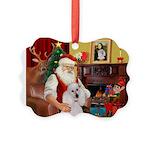 Santa's Std Poodle(w) Picture Ornament