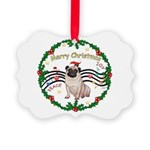 XmasMusic1MC/Pug 11 Picture Ornament