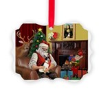 Santa's Rat Terrier Picture Ornament