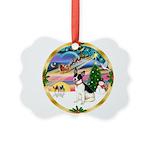 XmasMagic/Rat Terrier Picture Ornament