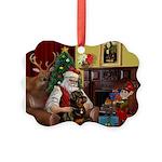 Santa's Rottweiler Picture Ornament