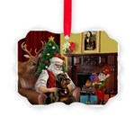 Santa's Rottweiler Picture Ornament