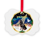 XmasSunrise/Rottweiler Picture Ornament