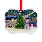 XmasMagic/Min Schnauzer Picture Ornament