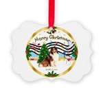XmasMusic3/Sheltie 7 Picture Ornament