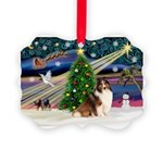 XmasMagic/Sheltie (7R) Picture Ornament