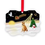 Night Flight/Shiba Inu Picture Ornament