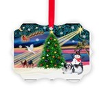 XmasMagic/Shih Tzu Picture Ornament