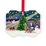 Xmas Magic & S Husky Picture Ornament