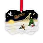 Night Flight/ Silky Ter 14 Picture Ornament
