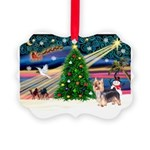 XmasMagic/Silky Terrier Picture Ornament