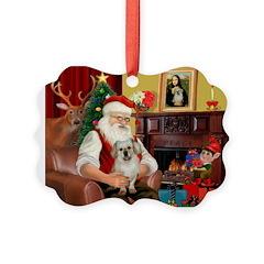 Santa/Tibetan Spaniel Ornament