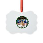 XmasMagic2-/Vizsla Picture Ornament