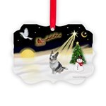 Night Flight/Corgi (BM) Picture Ornament