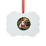 Santa's Welsh T Picture Ornament