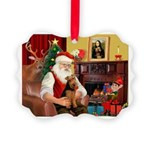 Santa's Welsh Terrier Picture Ornament