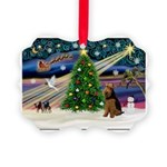 XmasMagic/Welsh Terrier Picture Ornament