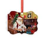 Santa's Westie Picture Ornament