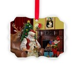 Santa's Wheaten (#7) Picture Ornament