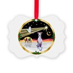 Wisemen/Whippet #8 Picture Ornament