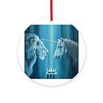 The Lion The Unicorn Ornament (Round)