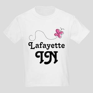 Lafayette Indiana Butterfly Kids Light T-Shirt