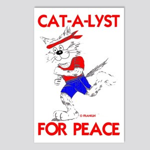 CAT-A-LYST for peace Postcards (Package of 8)