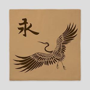 Eternal Crane (brown) Queen Duvet