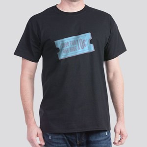"""""""Good For One Ride"""" Black Carnival Ticket Tee"""