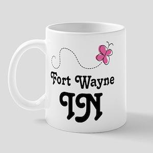 Fort Wayne Indiana Butterfly Mug