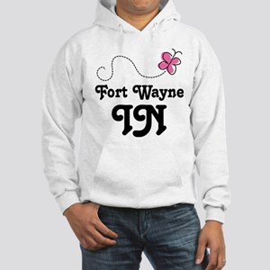 Fort Wayne Indiana Butterfly Hooded Sweatshirt